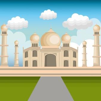 Monumento india taj mahal diseño