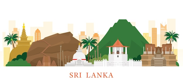Monumentos del horizonte de sri lanka