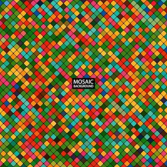 Mosaico abstracto de fondo de los cuadrados coloridos