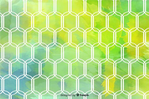 Mosaico colorido papel pintado estilo acuarela