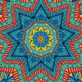 Mosaico geométrico abstracto ornamental de patrones sin fisuras étnicas vintage