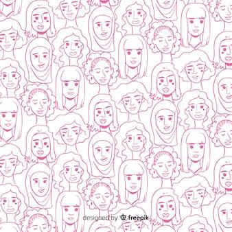 Mosaico mujeres internacionales