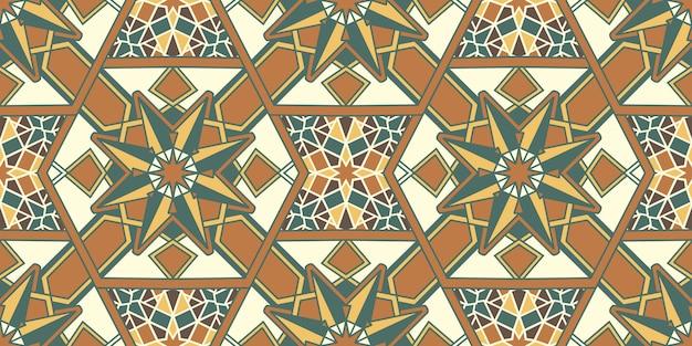 Mosaico de patrones sin fisuras oriental.