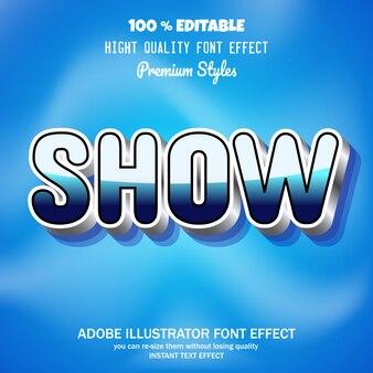 Mostrar texto, efecto de fuente editable