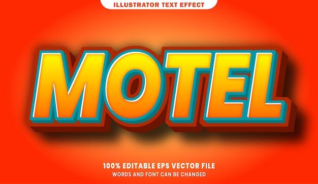 Motel efecto de estilo de texto editable 3d