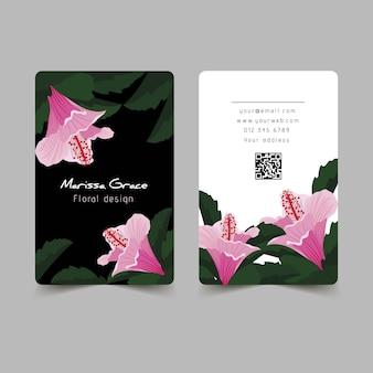 Motivos naturales para el diseño de tarjetas de visita.