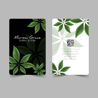 Motivos naturales para plantilla de tarjeta de visita