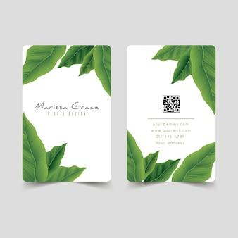 Motivos naturales para tarjetas de visita.
