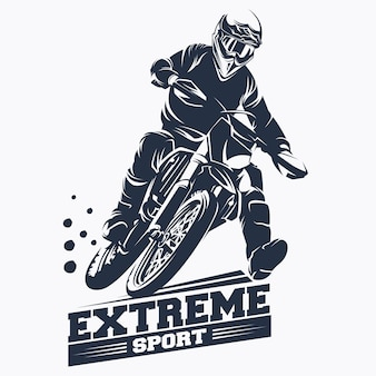 Moto track o motocross jump logo vector