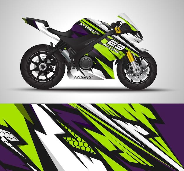 Motocicleta calcomanía y pegatinas de vinilo.