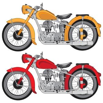 Motocicleta estilo vintage.