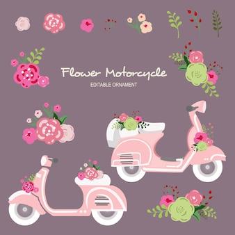 Motocicleta de la flor