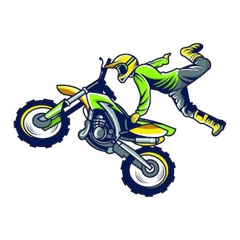 Motocicleta freestyle vector