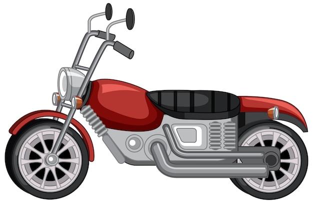 Motocicleta vintage clásica aislada