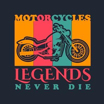 Motocicleta vintage vector para diseño de camiseta.