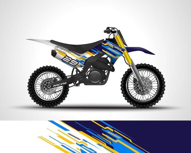 Motocross wrap pegatina y vinilo adhesivo ilustración.