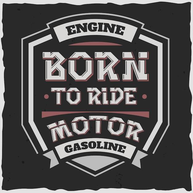 Motor emblema y gasolina