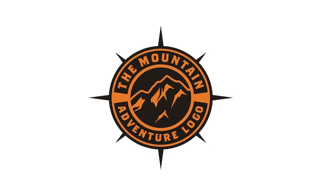 Mountain adventure badge logo diseño inspiración