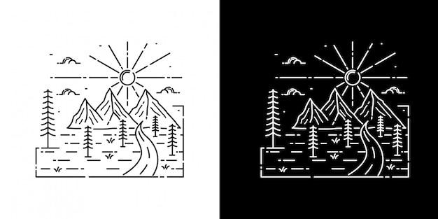 Mountain view monoline design
