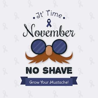 Movember vintage crece su fondo de bigote