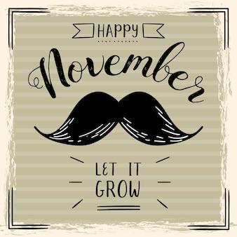 Movember vintage deja crecer fondo