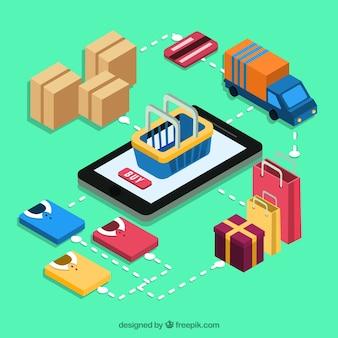 Móvil y elementos isométricos de compra online