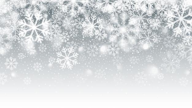 Movimiento borroso cayendo nieve efecto abstracto fondo