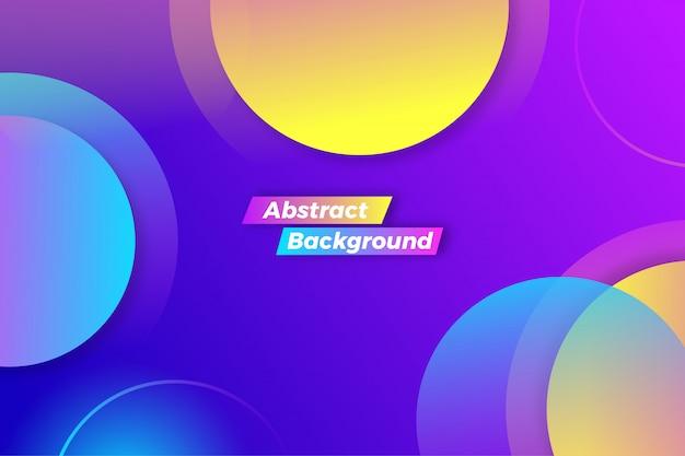 Movimiento de círculos coloridos abstractos