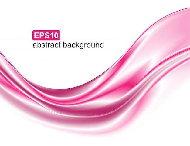 Movimiento de onda rosa elegante abstracto.