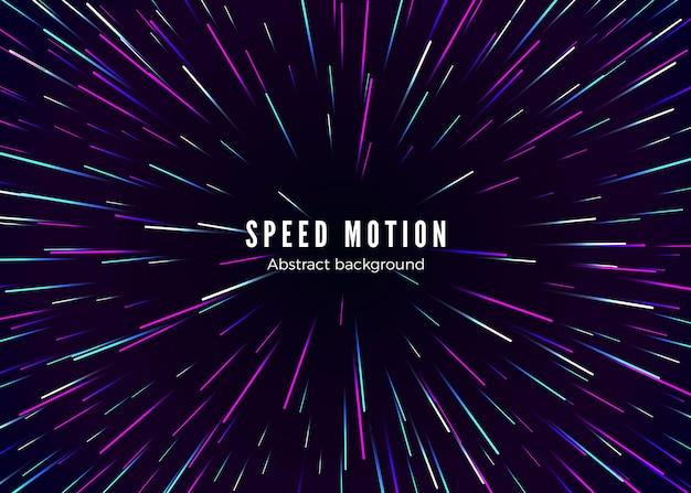 Movimiento de velocidad infinita y espacial