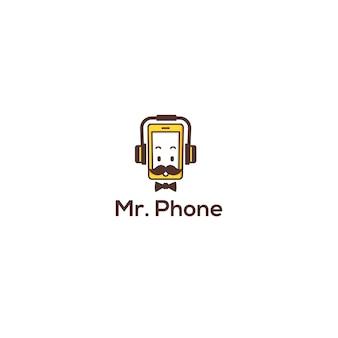 Mr. phone logo dispositivo móvil