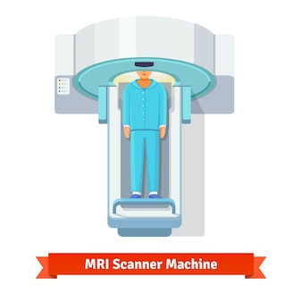 Mri, paciente de escaneo por resonancia magnética