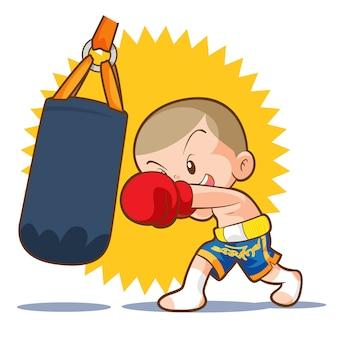 Muaythai bolsa de arena golpe de boxeo