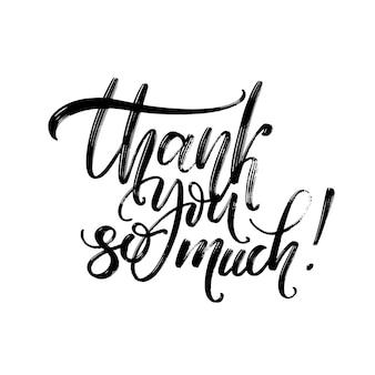 Muchas gracias. dibujado a mano caligrafía creativa.