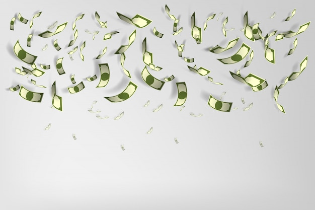 Mucho dinero ilustración vectorial de fondo