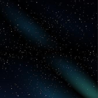 Muchos antecedentes del espacio estrellado.