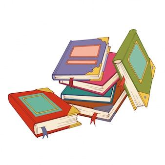Muchos libros coloridos