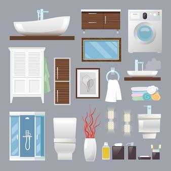 Muebles de baño planos