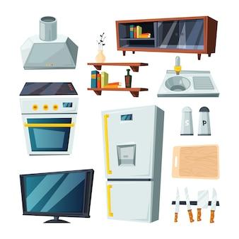 Muebles para cocina y sala de estar.