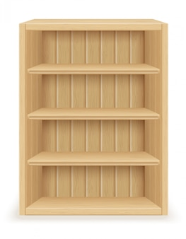 Muebles de estantería de madera.