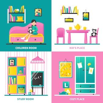 Muebles de la habitación del bebé 2x2