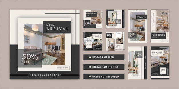 Muebles instagram feed e historias