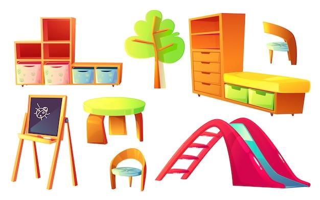 Muebles de jardín de infantes para salón de clase para niños.