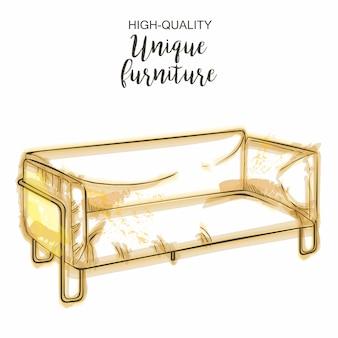 Muebles modernos sofá boceto