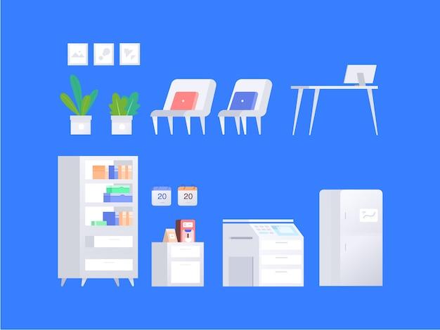 Muebles de oficina simple flat