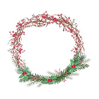 Muérdago navidad - decoración de celebración navideña
