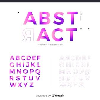 Muestra abecedario degradado