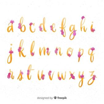 Muestra alfabeto floral