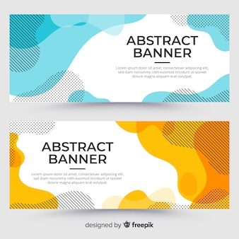 Muestra banner abstracto fluido