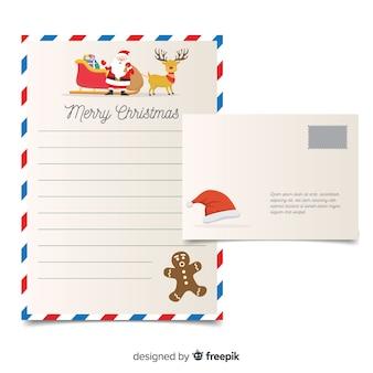 Muestra carta navidad hombre de pan de jengibre sorprendido